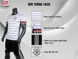 Áo bóng đá CP đội tuyển Đức màu trắng năm 2020