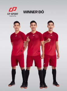 Áo bóng đá CP Winner màu đỏ mận năm 2020