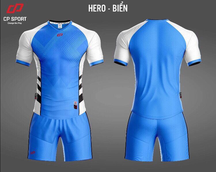 Áo bóng đá CP Hero màu xanh nước biển năm 2020