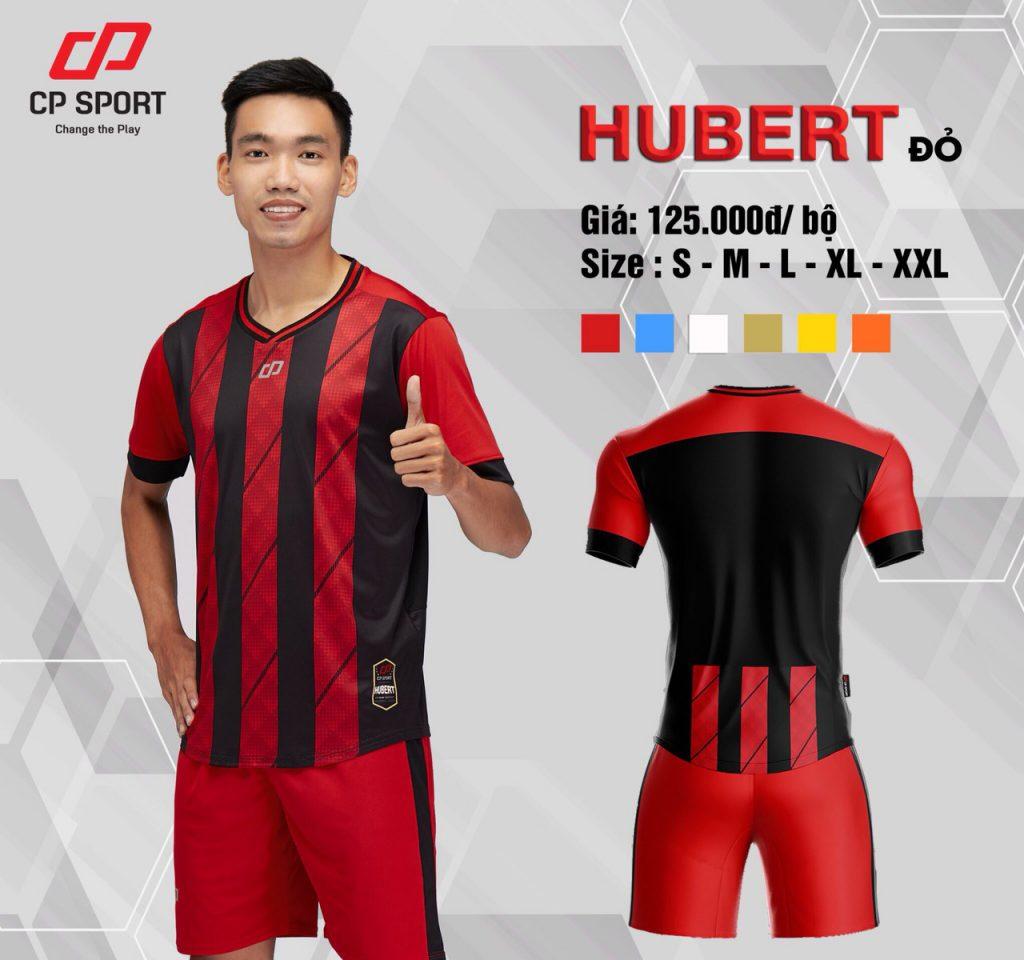 Áo bóng đá CP Hubert màu đỏ sọc đen năm 2020