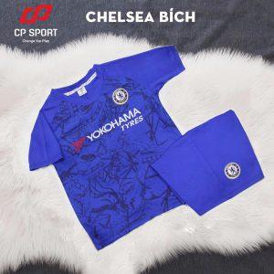 Áo bóng đá trẻ em CP CLB Chelsea màu xanh năm 2020