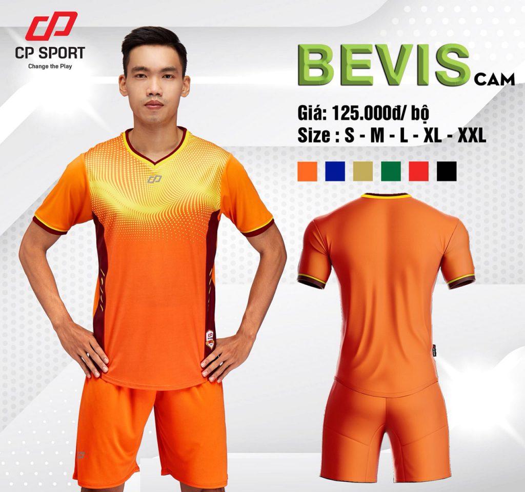 Áo bóng đá CP Bevis màu cam phối vàng năm 2020