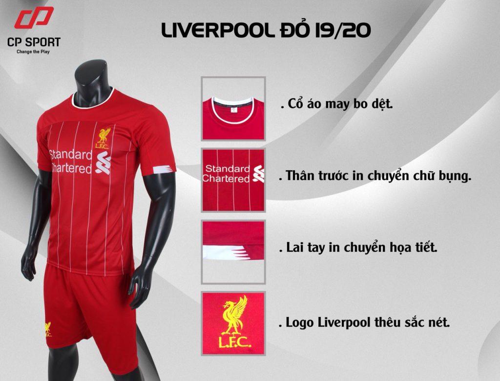 Áo bóng đá CP CLB Liverpool màu đỏ năm 2020