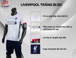 Áo bóng đá CP CLB Liverpool màu trắng năm 2020