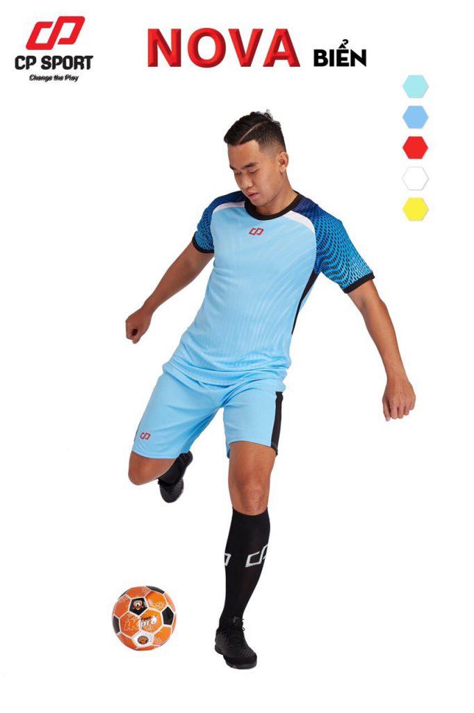 Áo bóng đá CP Nova màu xanh biển năm 2020