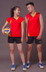 Áo bóng chuyền nam nữ K3 màu đỏ năm 2020