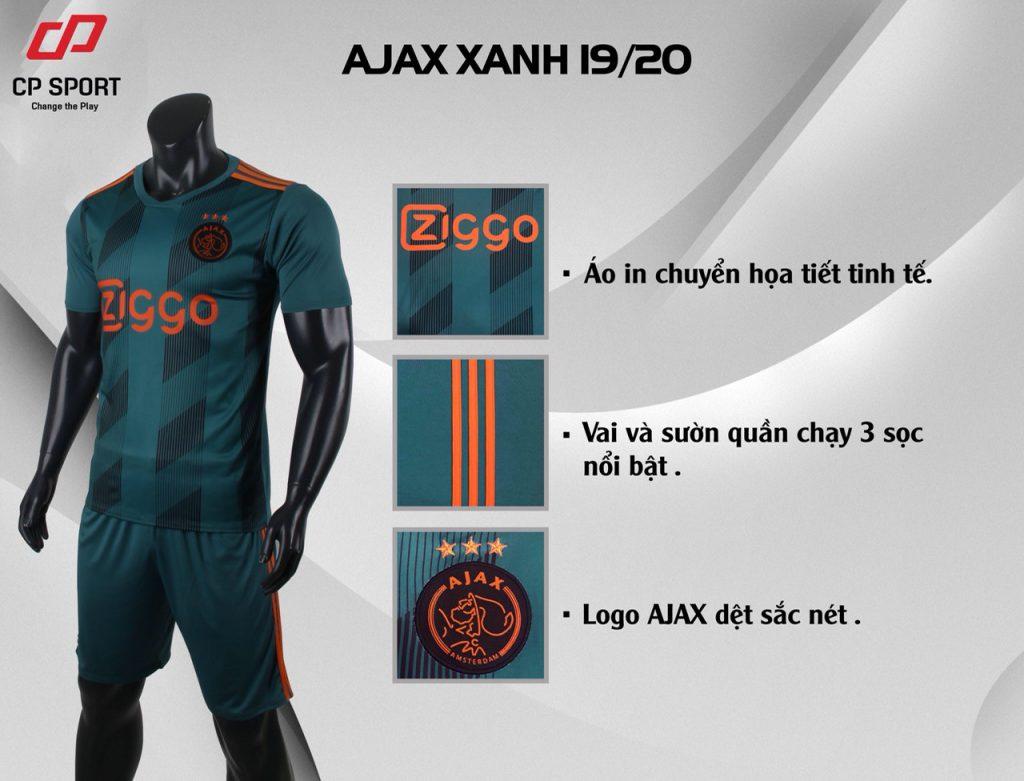 Áo bóng đá CP CLB Ajax màu xanh lục năm 2020