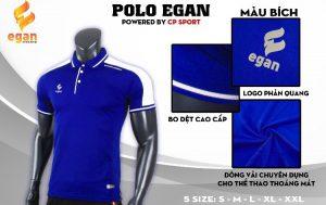 Áo đồng phục Polo Egan cao cấp màu xanh nước biển năm 2020