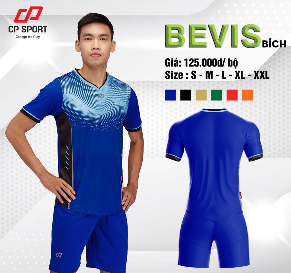 Áo bóng đá CP Bevis màu xanh dương năm 2020