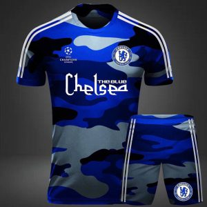 Áo bóng đá CLB Chelsea rằn ri xanh năm 2020