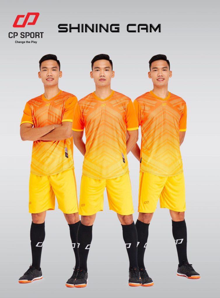 Áo bóng đá CP Shining màu cam phối vàng năm 2020