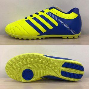 Giày bóng đá Prowin 3 sọc màu vàng phối xanh mới nhất 2020