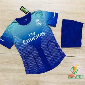 Áo bóng đá CLB Real Madrid màu xanh dương mới nhất năm 2020