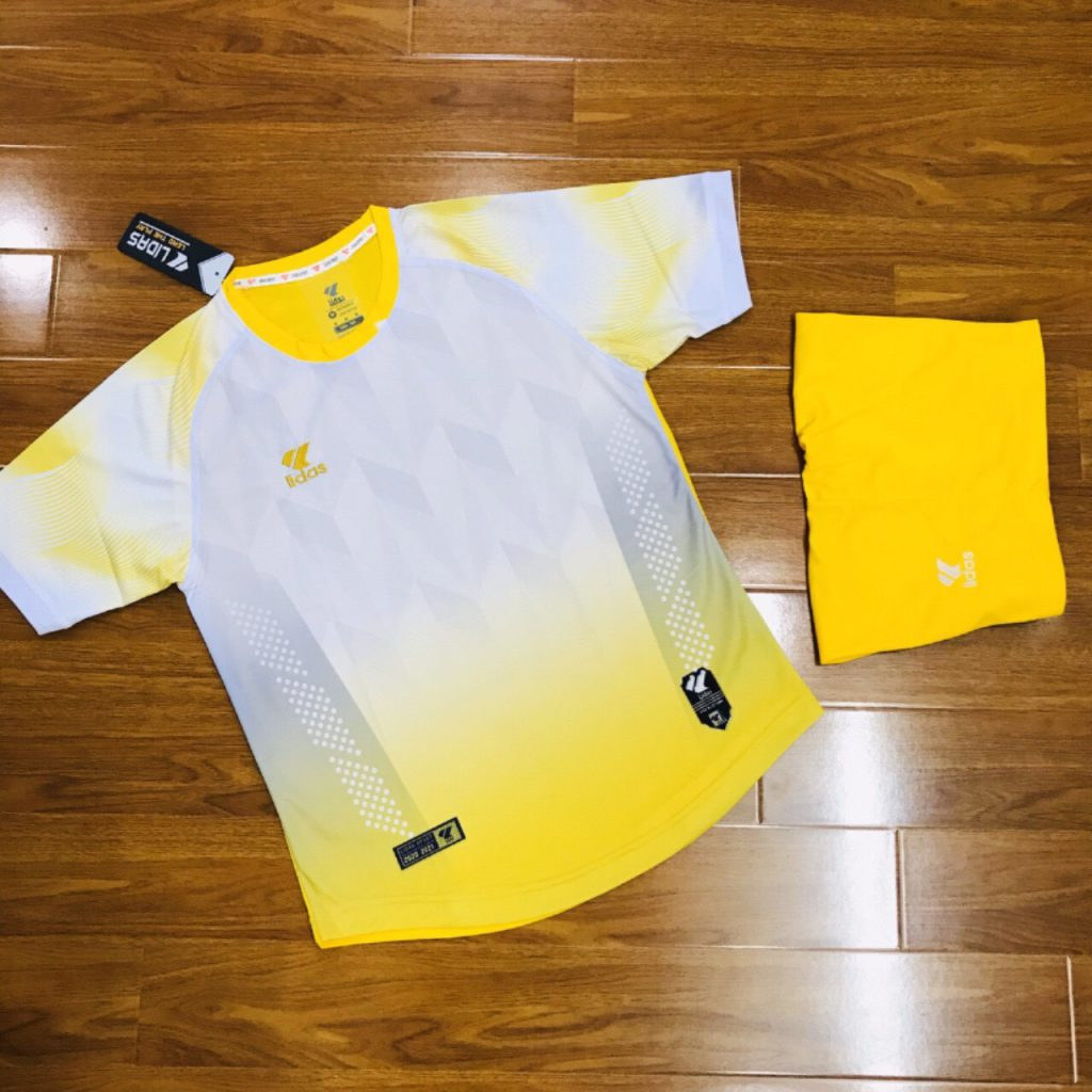 Áo bóng đá không logo Lidas wavy màu vàng năm 2020