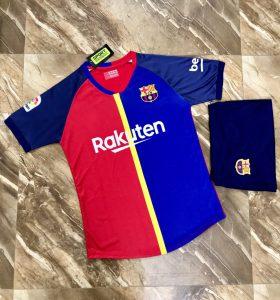 Áo bóng đá CLB Barca màu xanh phối đỏ mới nhất 2020