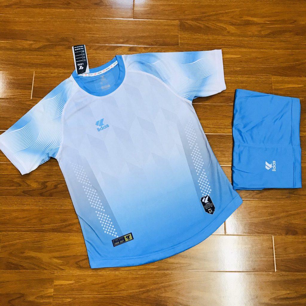 Áo bóng đá không logo Lidas wavy màu xanh da trời năm 2020