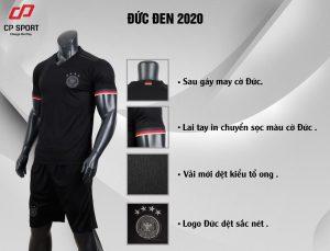 Áo bóng đá CP đội tuyển Đức màu đen năm 2020