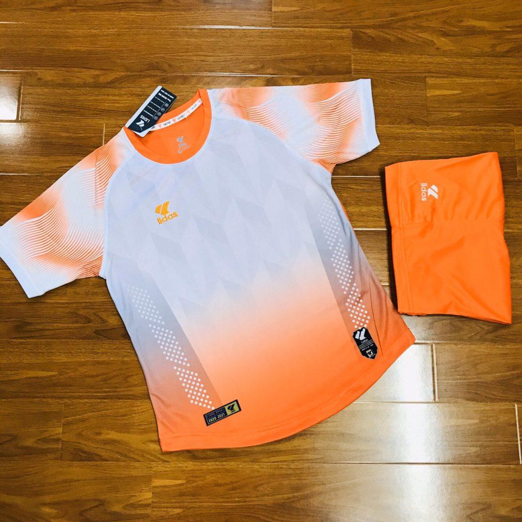 Áo bóng đá không logo Lidas wavy màu cam năm 2020