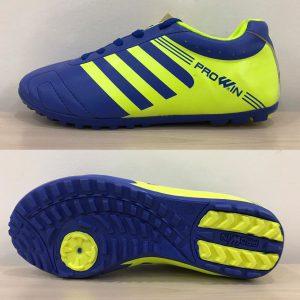 Giày bóng đá Prowin 3 sọc màu xanh phối vàng mới nhất 2020