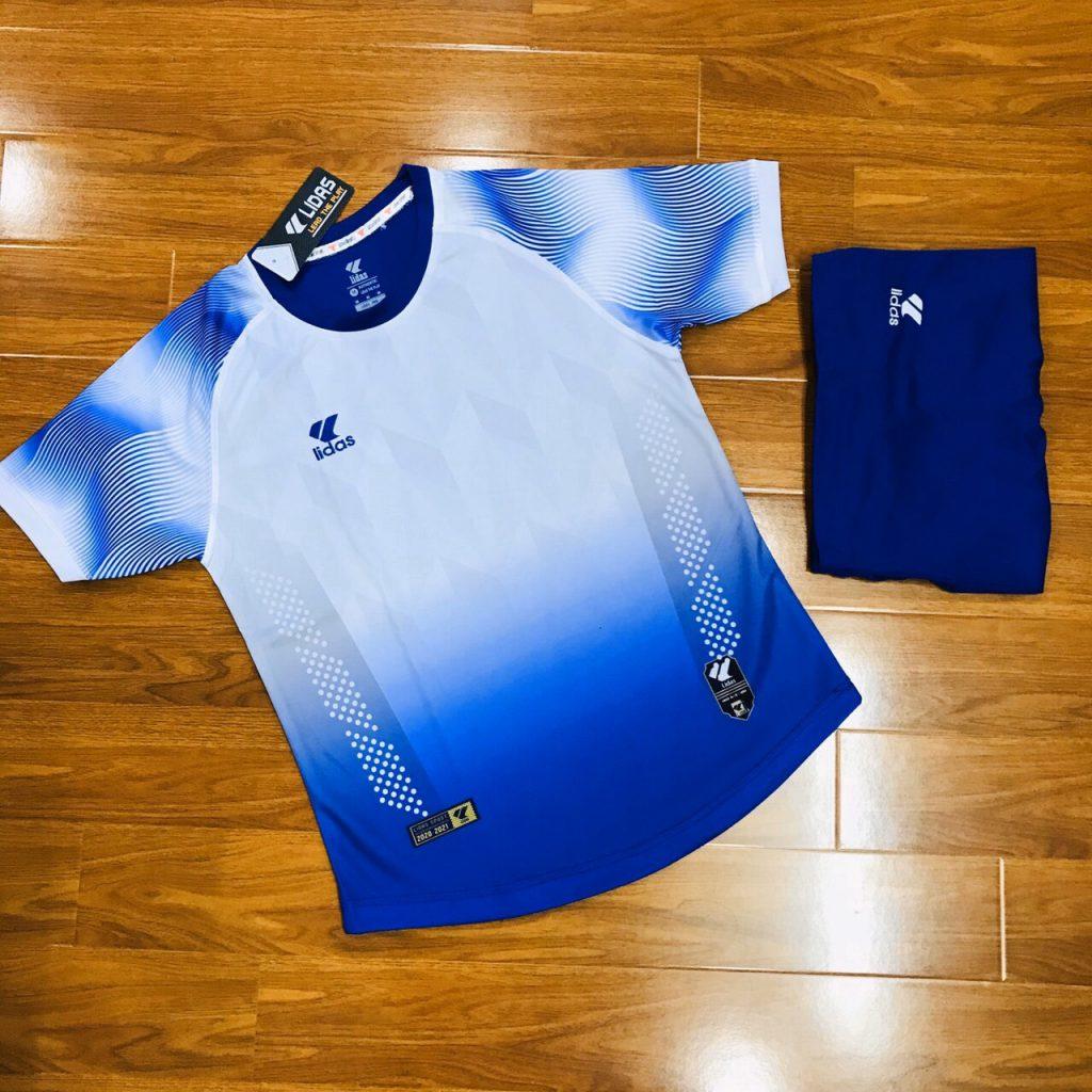 Áo bóng đá không logo Lidas Wavy màu xanh dương năm 2020