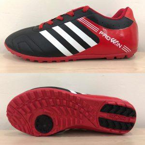Giày bóng đá Prowin 3 sọc màu đen phối đỏ mới nhất 2020