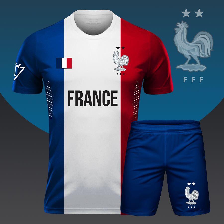 Áo bóng đá đọi tuyển Pháp 3 màu mới nhất 2020