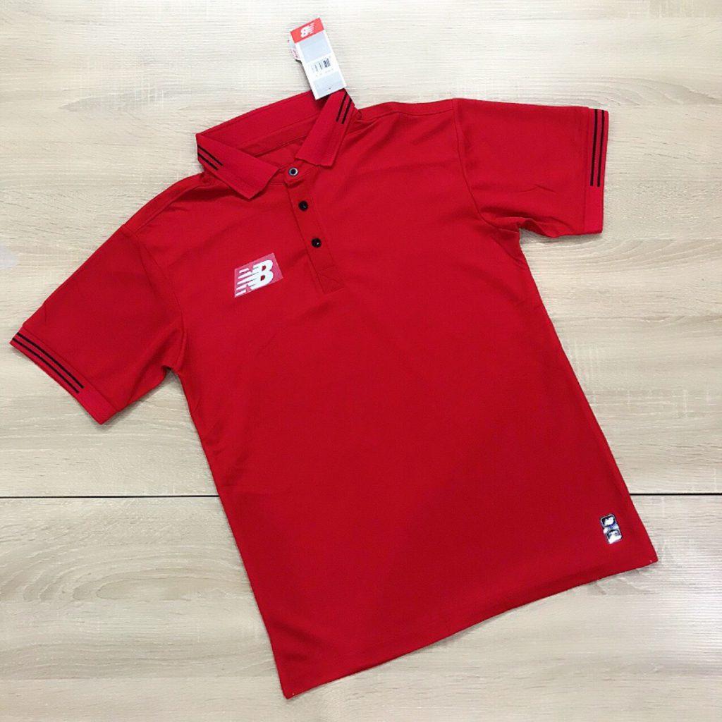 Áo đồng phục thể thao Polo NB001 màu đỏ mới nhất 2020
