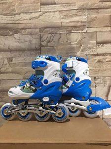 Giày trượt Patin mã 906 màu xanh phối trắng mới nhất 2020