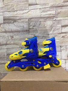 Giày trượt Patin mã 0705 màu xanh phối vàng mới nhất 2020