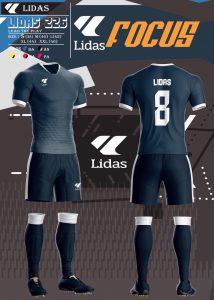 Áo bóng đá không logo Lidas wavy màu đen năm 2020
