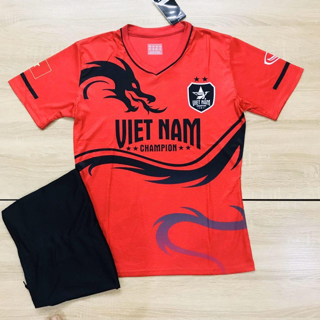 Áo bóng đá đội tuyển quốc gia Việt Nam rồng đỏ mới nhất 2020