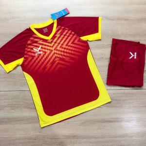 Áo bóng đá không logo NIDU màu đỏ mới nhất 2020