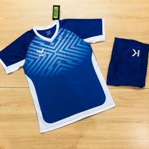 Áo bóng đá không logo NIDU màu xanh dương mới nhất 2020