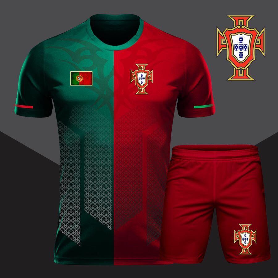 Áo bóng đá độii tuyển Bồ Đào Nha màu xanh đỏ mới nhất 2020