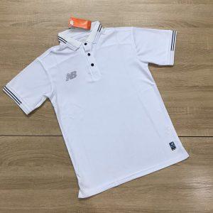 Áo đồng phục thể thao Polo NB001 màu trắng mới nhất 2020