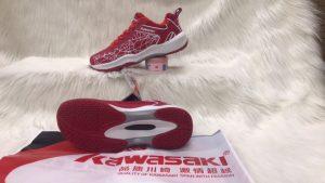 Giày bóng chuyền, cầu lông Kawasaki K081 màu đỏ mới nhất 2020