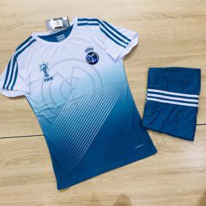 Áo bóng đá CLB Real màu trắng phối xanh dương mới nhất 2020