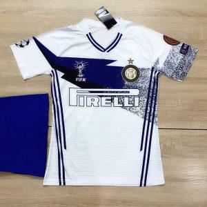 Áo bóng đá CLB Intermilan màu trắng phối xanh dương mới nhất 2020