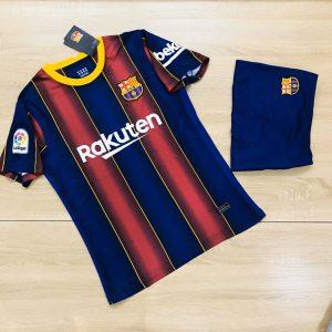 Áo bóng đá CLB Barca màu xanh dương phối đỏ mới nhất 2020