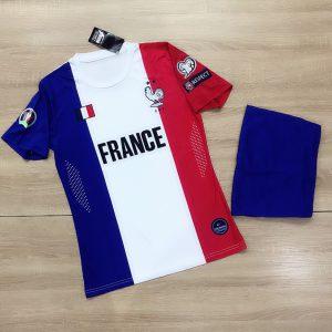 Áo bóng đá đội tuyển Pháp phối màu đỏ trắng xanh mới nhất 2020