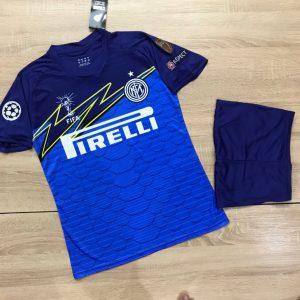 Áo bóng đá CLB Intermilan màu đen phối xanh dương mới nhất 2020