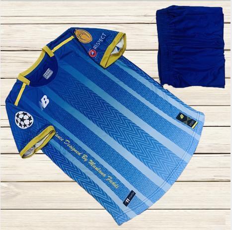 Áo bóng đá không logo NB6 màu xanh dương mới nhất 2020