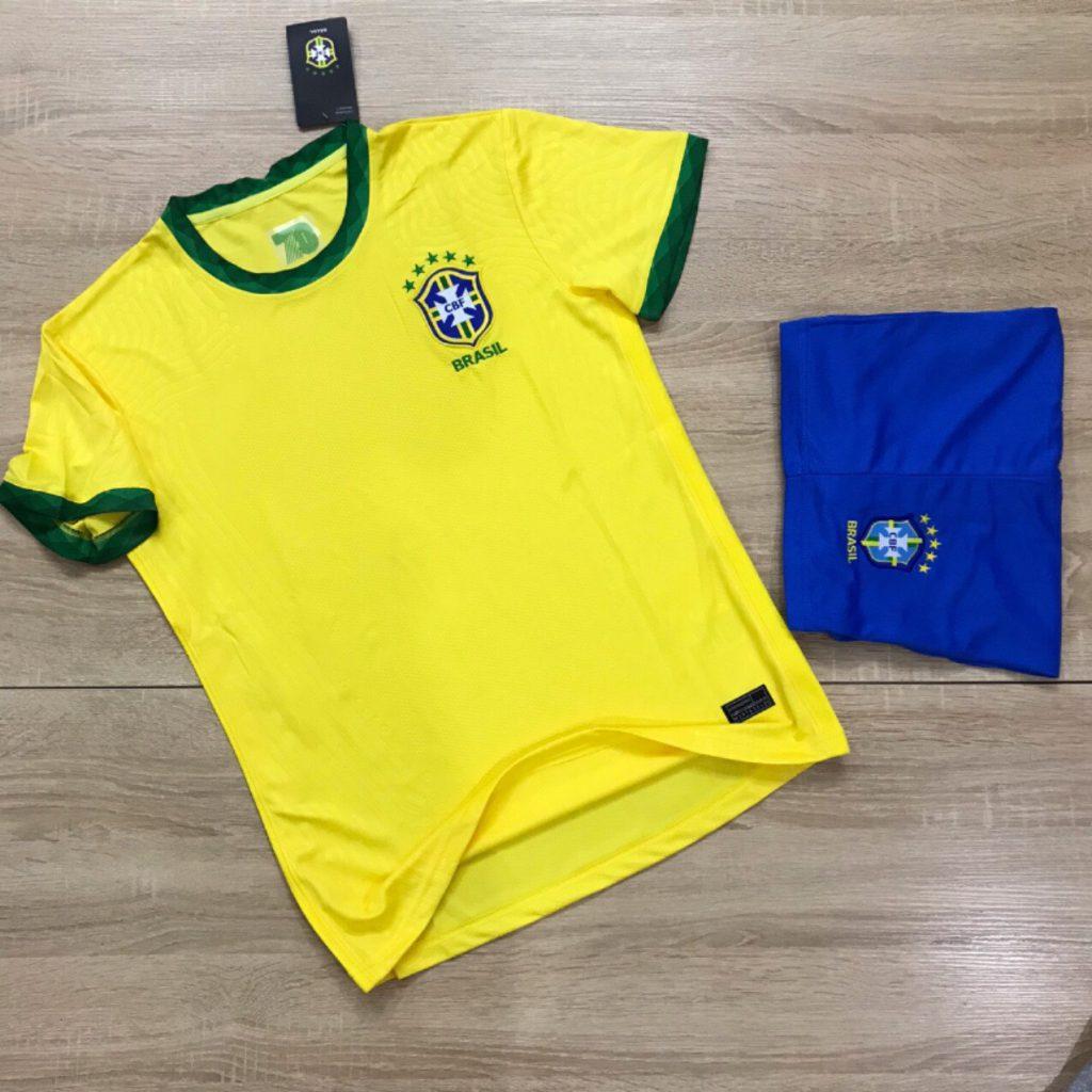 Áo bóng đá đội tuyển Brasil màu vàng chanh mới nhất 2020
