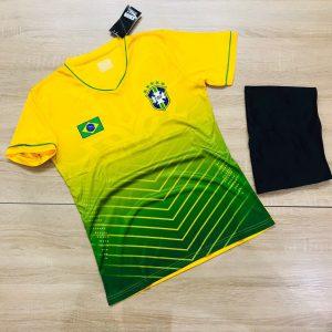 Áo bóng đá đội tuyển Brasil vàng phối xanh lá 2 mới nhất 2020