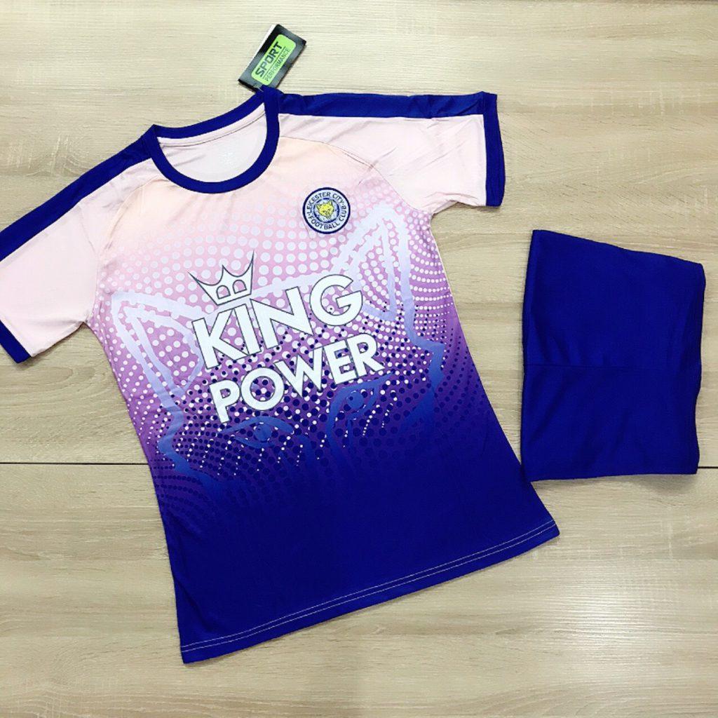Áo bóng đá CLB Man City màu xanh dương phối hồng mới nhất 2020