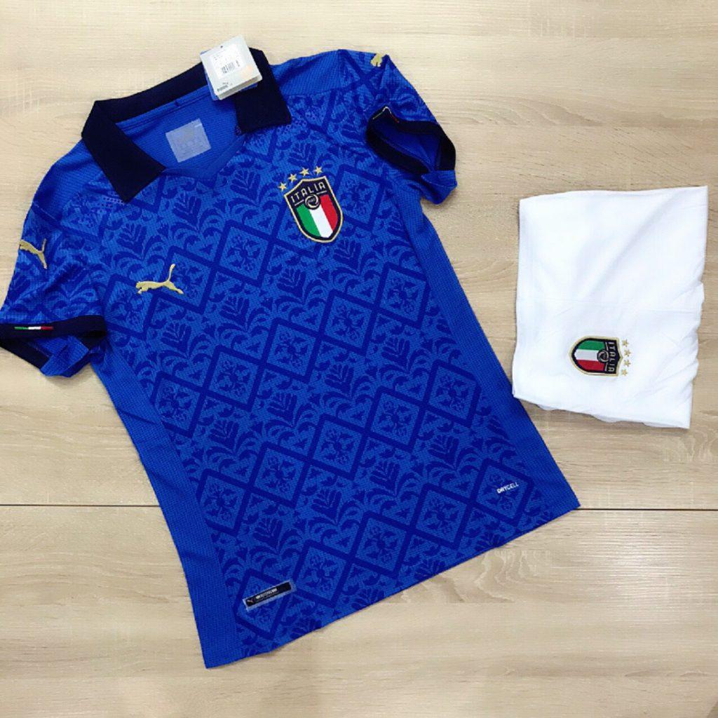 Áo bóng đá đội tuyển Italiia màu xanh dương mới nhất 2020