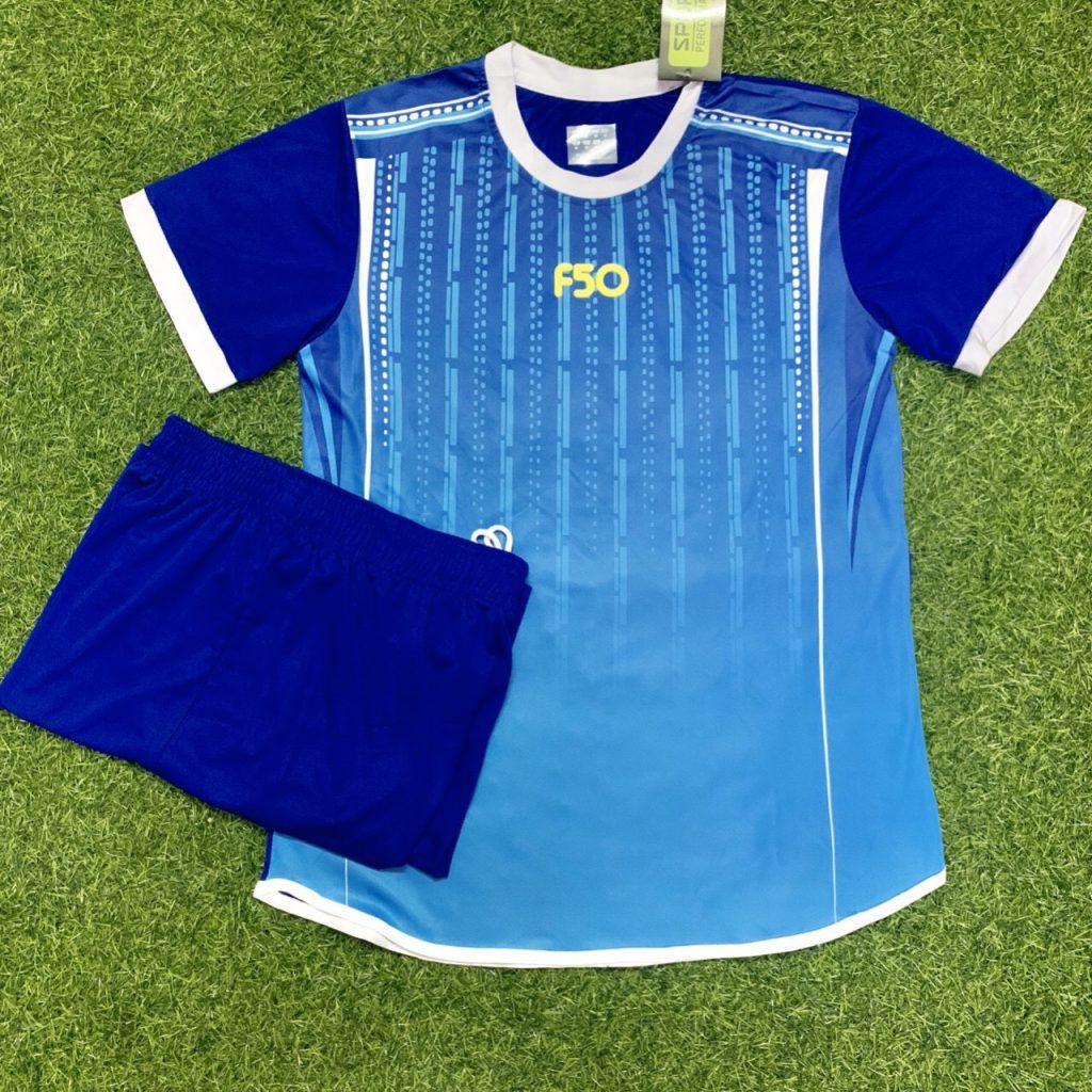 Áo bóng đá không logo F50 màu xanh dương mới nhất 2020