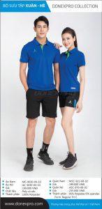 Áo cầu lông Donexpro chính hãng DP02 màu xanh dương xuân hè 2020