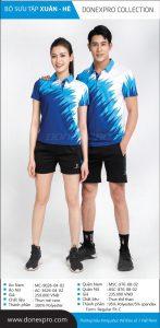 Áo cầu lông Donexpro chính hãng DP03 màu xanh dương xuân hè 2020