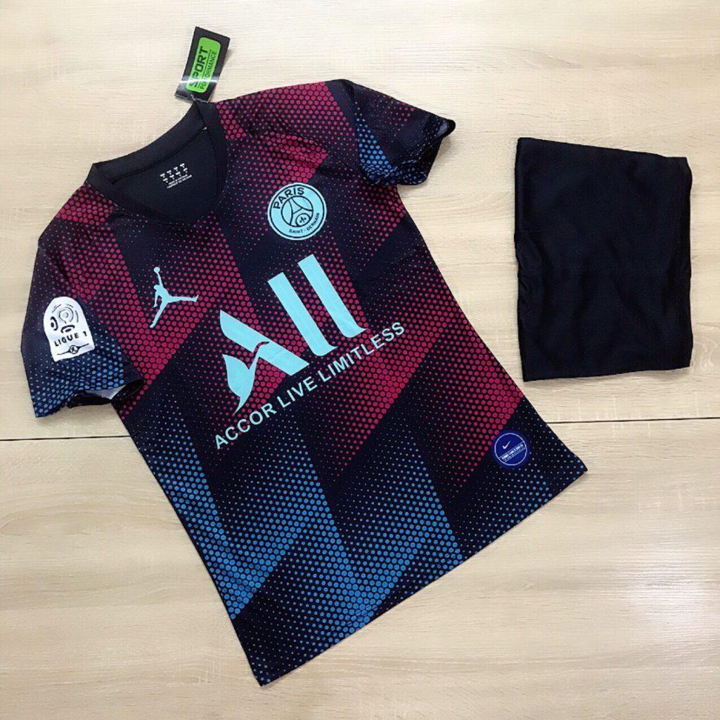 Áo bóng đá CLB Paris Saint Germain màu đỏ phối xanh mới nhất 2020